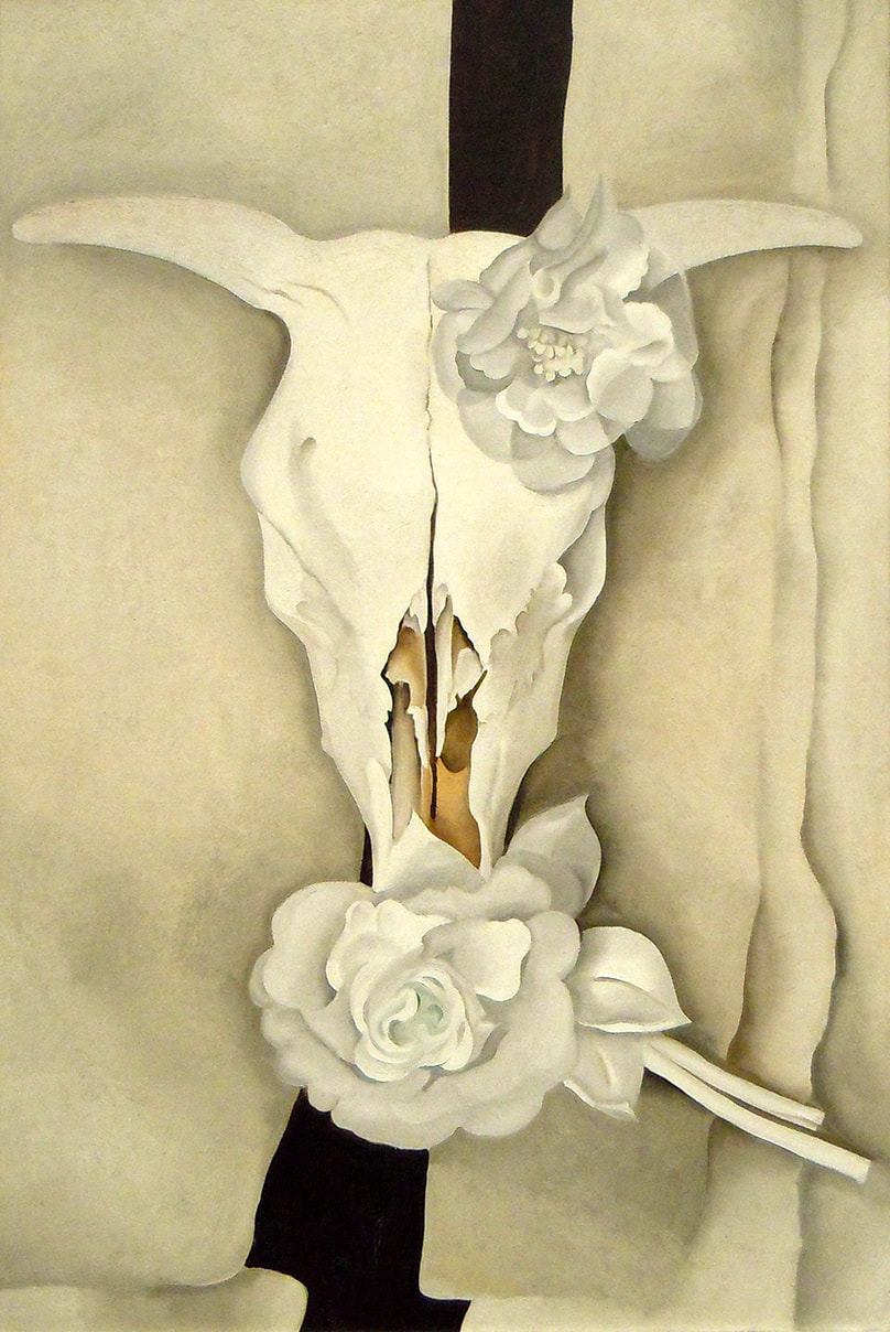 Cow's Skull with Calico Rose by ​Georgia O'Keeffe