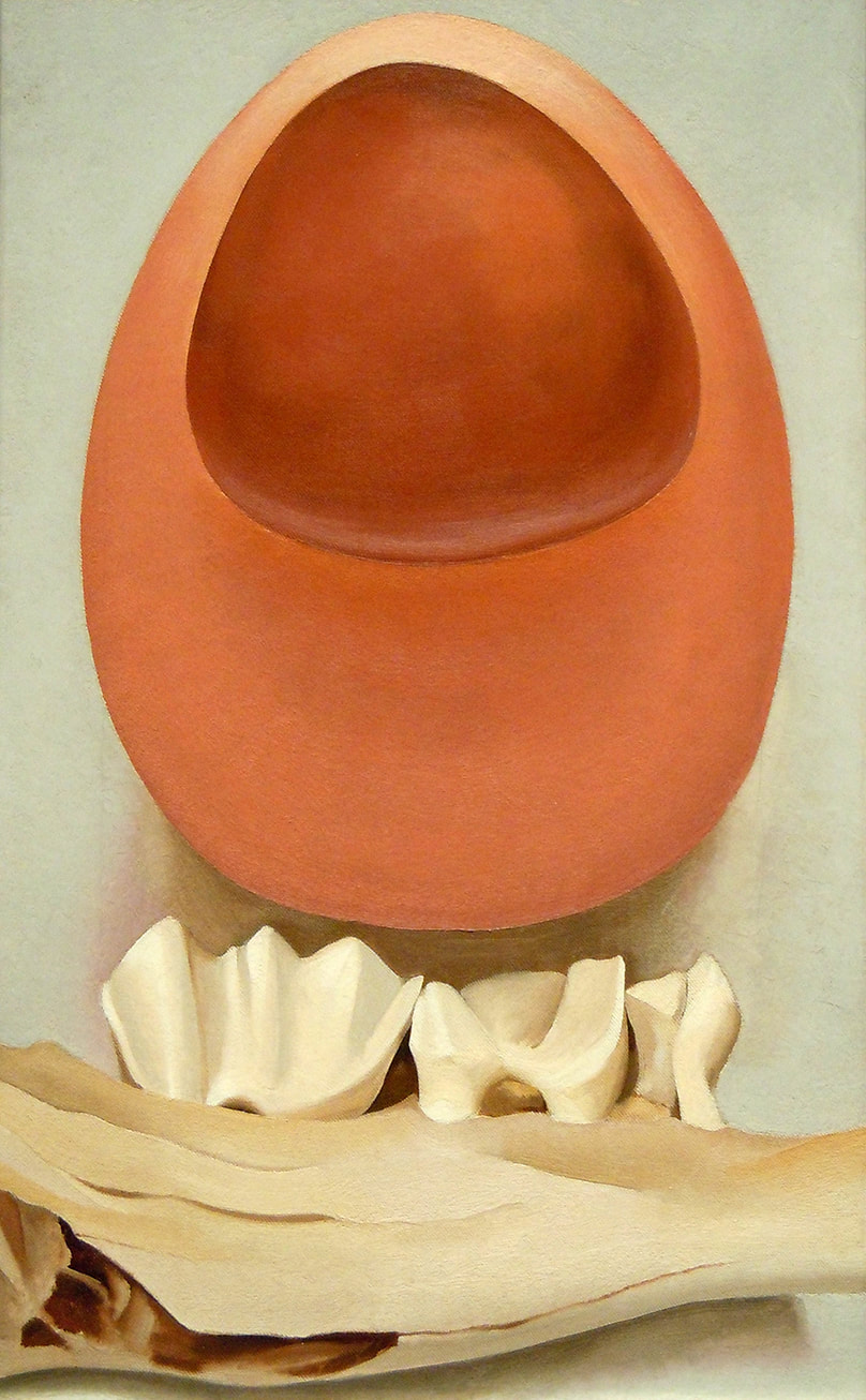 Red and Pink Rocks and Teeth by Georgia O'Keeffe