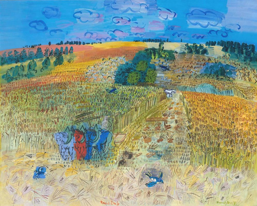 The Wheatfield by Raoul Dufy