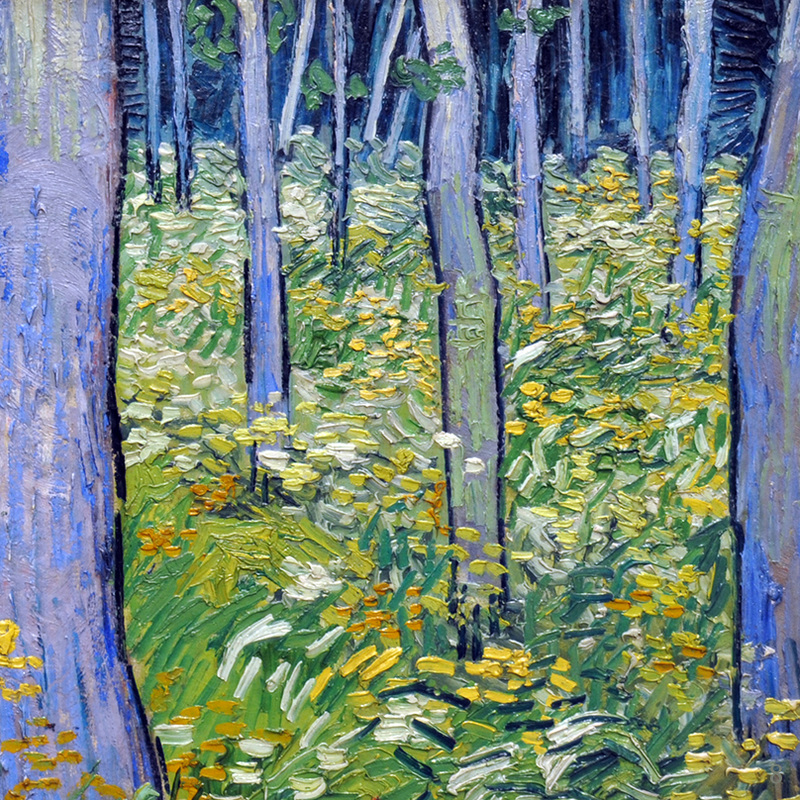 Undergrowth with Two Figures (detail) by Vincent van Gogh