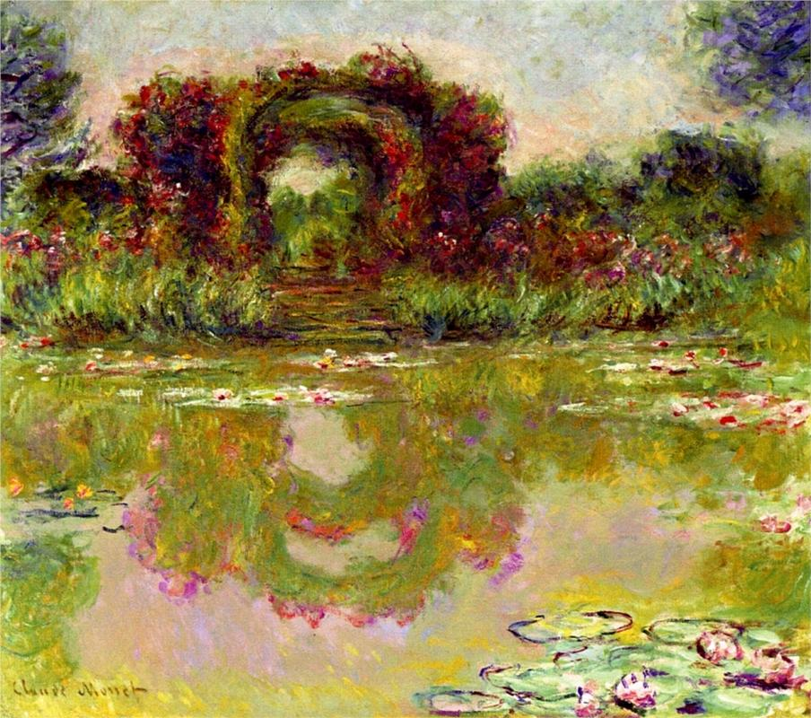 Rose Arches at Giverny by Claude Monet