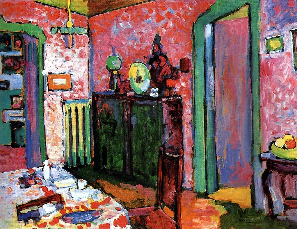 Interior (My Dining Room) by Wassily Kandinsky | Lone Quixote