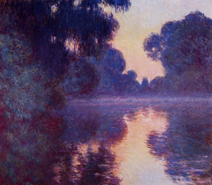 Arm of the Seine near Giverny at Sunrise by Claude Monet