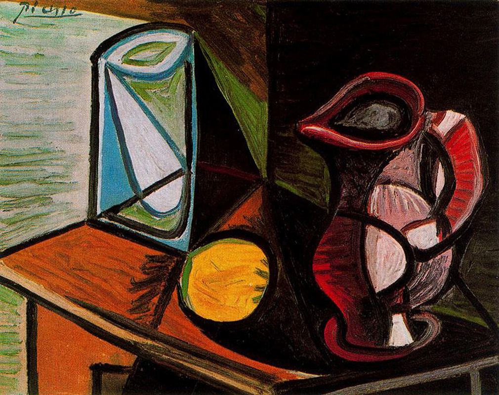 Glass and Pitcher by Pablo Picasso