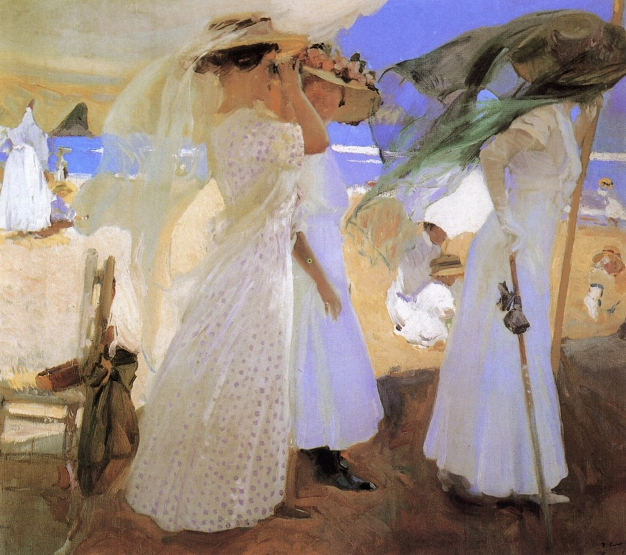 Beneath the Canopy by Joaquin Sorolla