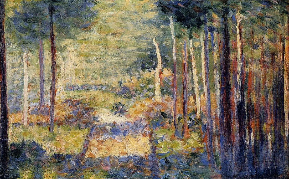 Forest Path, Barbizon by Georges Seurat