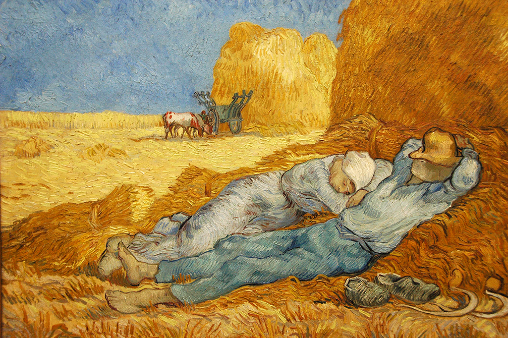Rest after Work by Vincent Van Gogh
