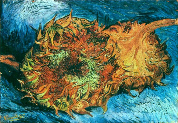 Still Life with Two Sunflowers by Vincent van Gogh | Lone Quixote • @lonequixote |