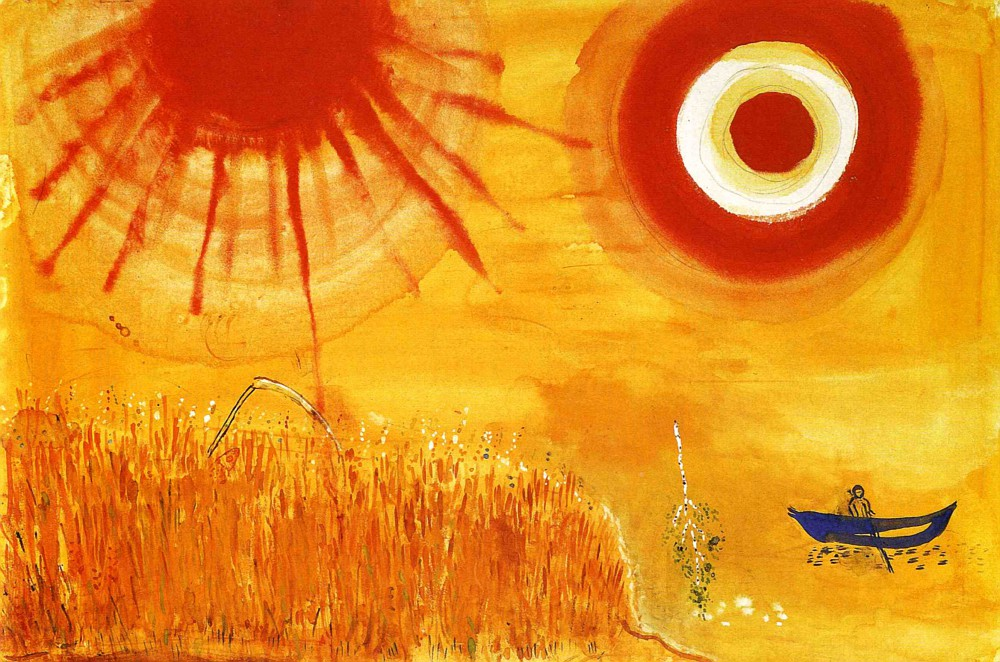 A Wheatfield on a Summer's Afternoon by Marc Chagall | Lone Quixote