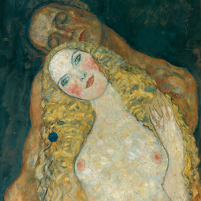 Detail of Adam and Eve by Gustav Klimt
