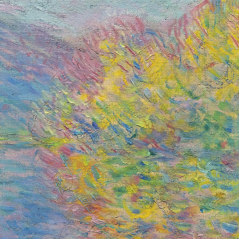 Jeufosse in Autumn (detail) by Claude Monet