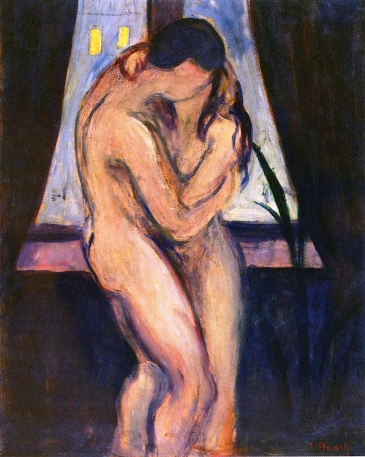 The Kiss (1897) by Edvard Munch