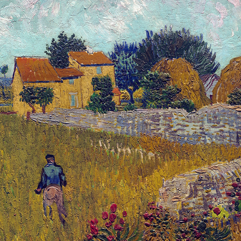 Farmhouse in Provence (detail) by Vincent van Gogh