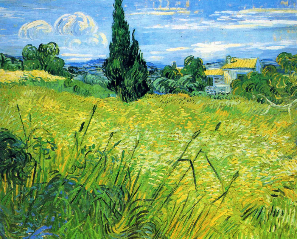 Green Wheat Field with Cypress by Vincent van Gogh | Lone Quixote