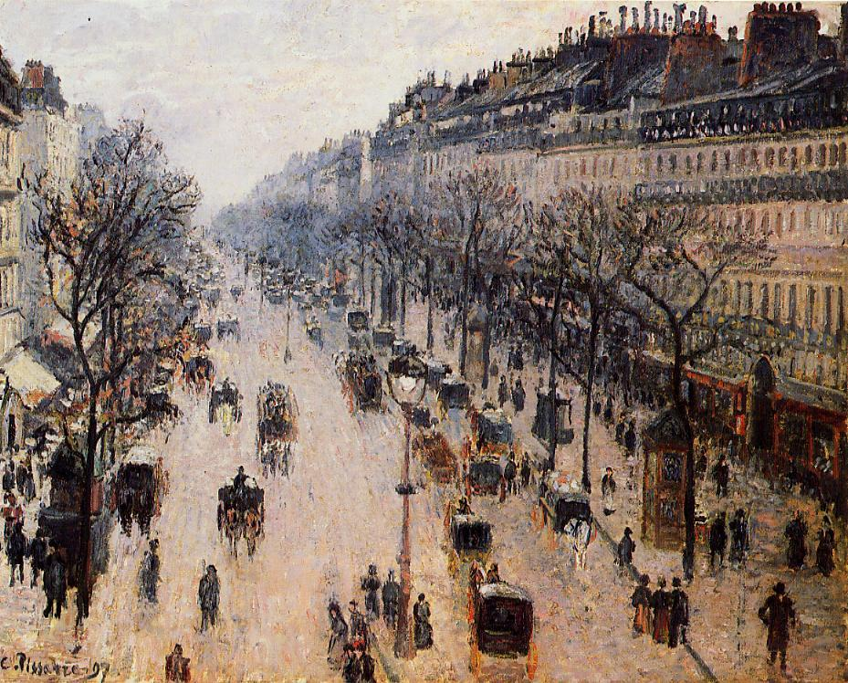 Boulevard Montmartre: Winter Morning by Camille Pissarro