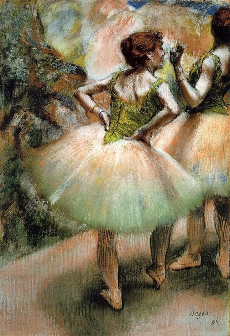 Dancers, Pink and Green by Edgar Degas