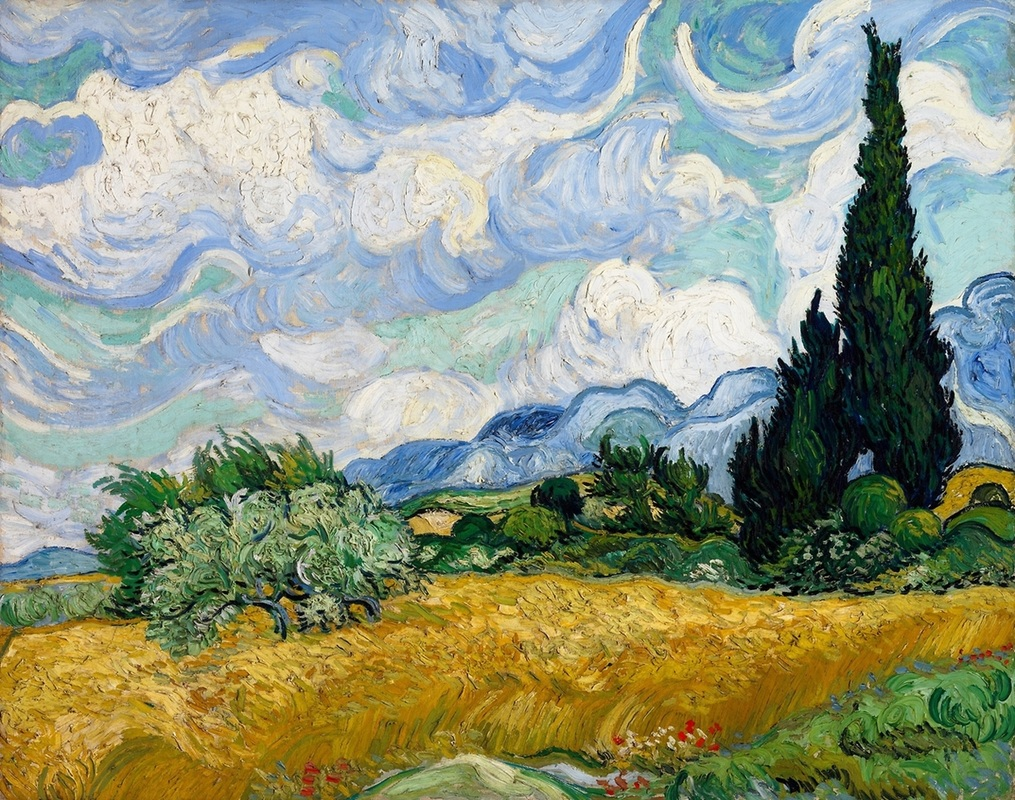 Wheatfield with Cypress Tree by Vincent van Gogh