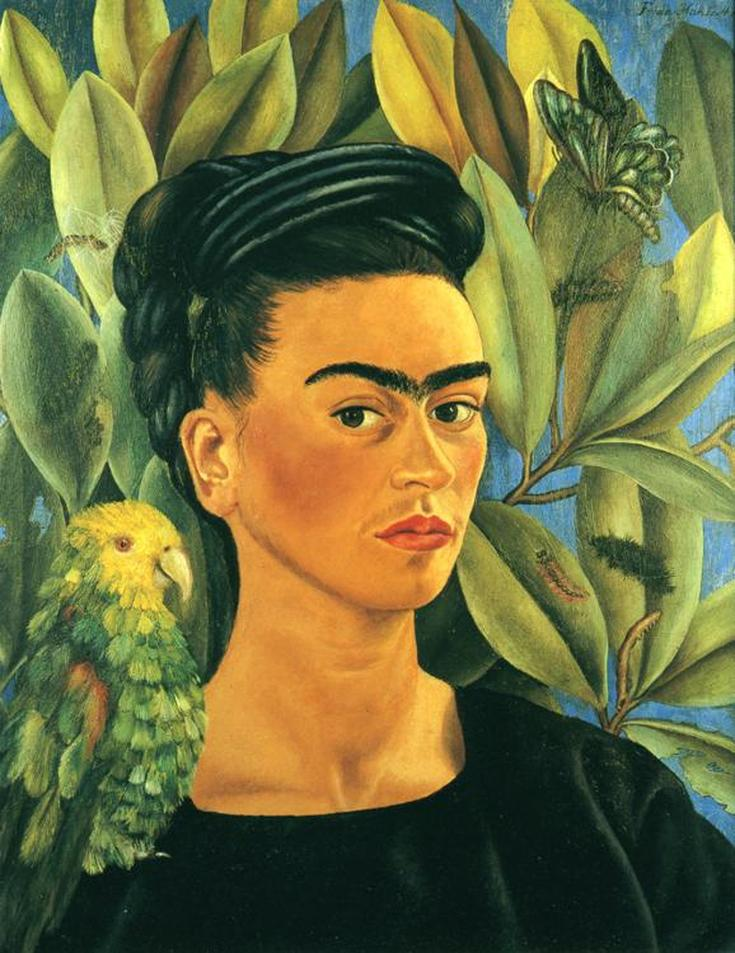 Self Portrait with Bonito by Frida Kahlo