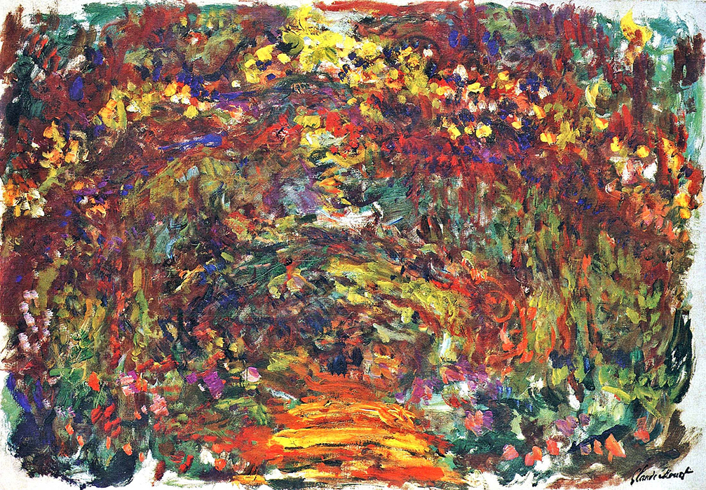 Path under the Rose Trellises, Giverny by Claude Monet