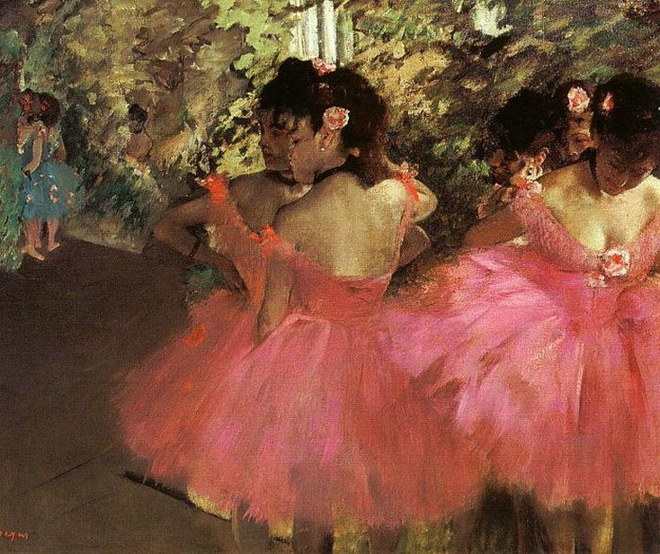 Dancers in Pink by Edgar Degas