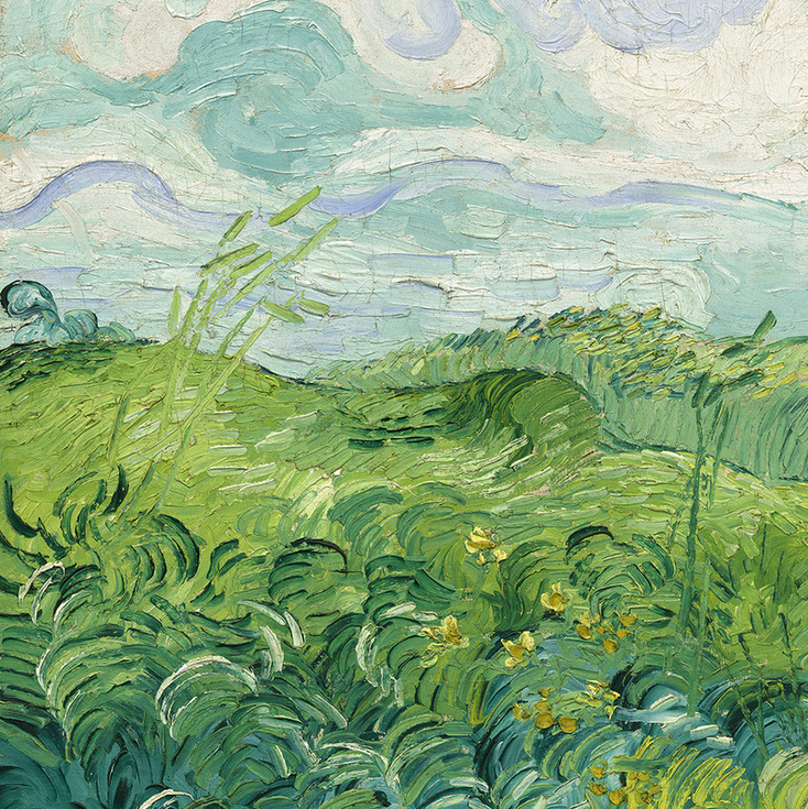 Green Wheat Field (detail) by Vincent van Gogh