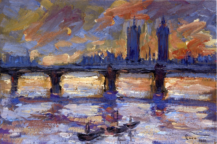 London, the Thames, Evening by Maximilien Luce