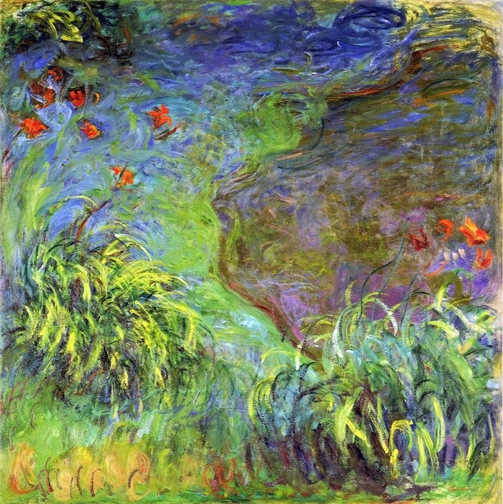 Daylilies by the Water by Claude Monet