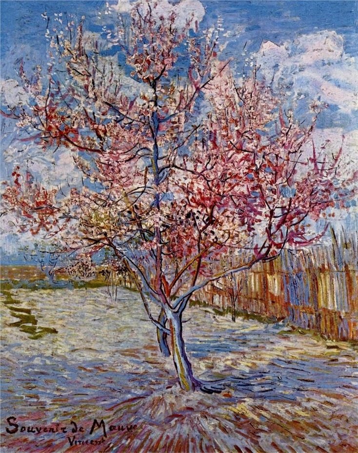 Peach Tree in Bloom (In Memory of Mauve) by Vincent van Gogh
