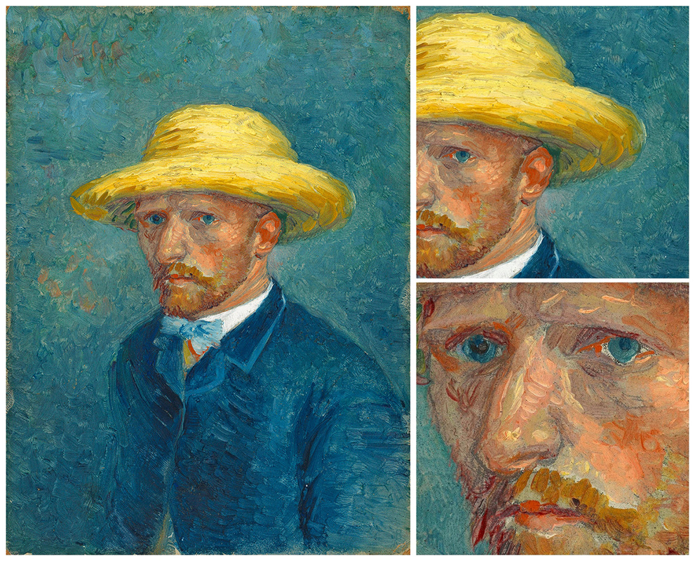 Portrait of Theo van Gogh (with details) by Vincent van Gogh | Lone Quixote