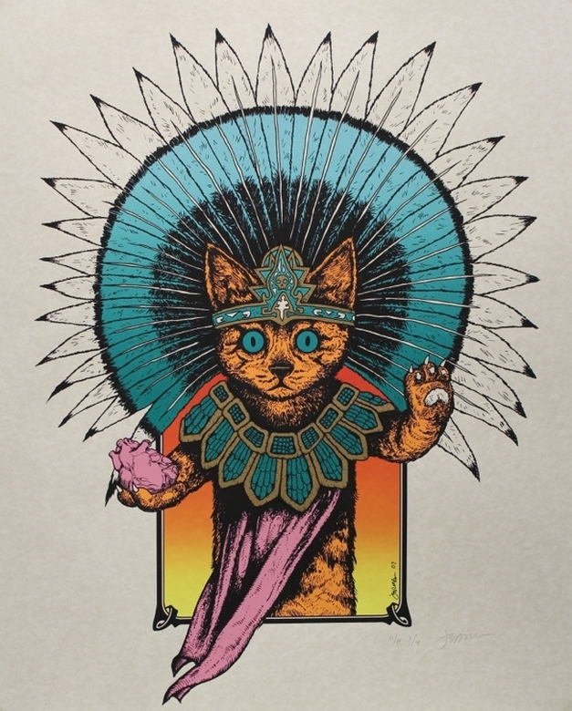 The Azteca Cat by Jermaine Rogers
