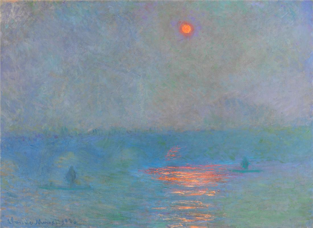 Waterloo Bridge, Sunlight in the Fog by Claude Monet