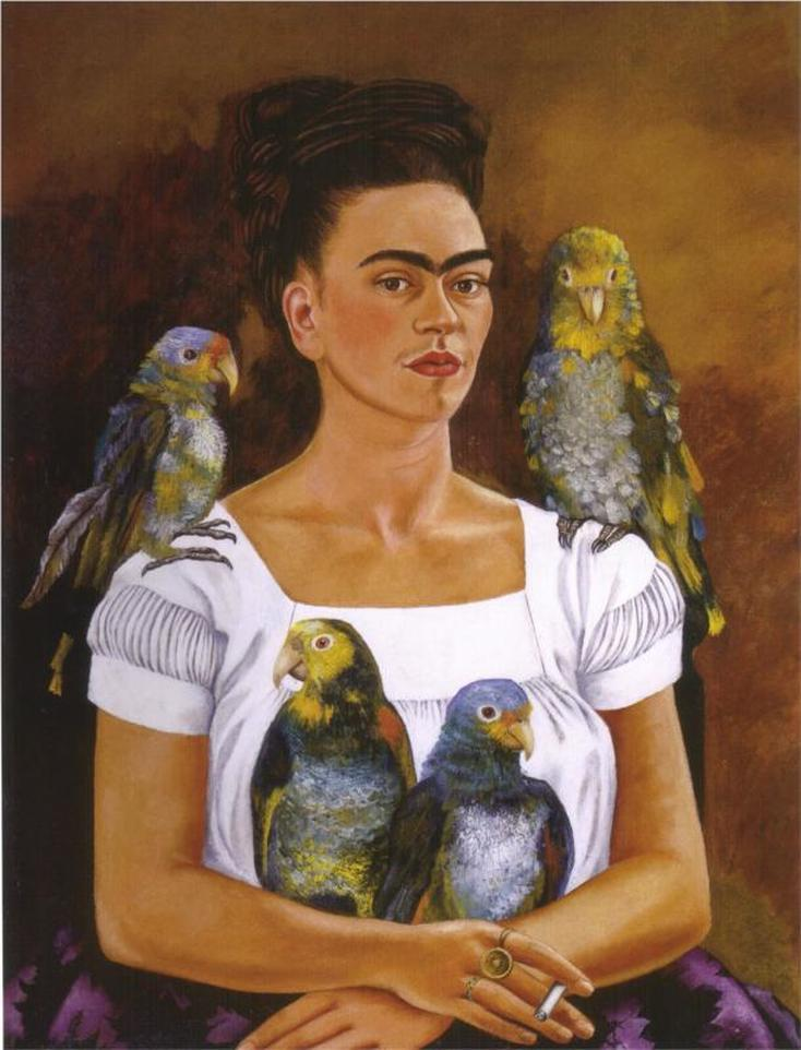 Me and My Parrots by Frida Kahlo