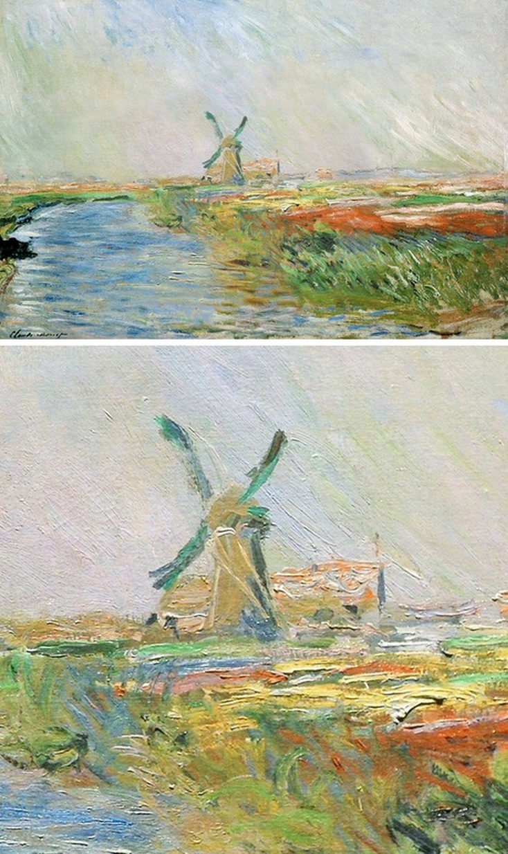 Field of Tulips in Holland by Claude Monet with Detail View | Lone Quixote
