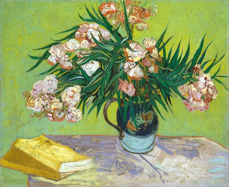 Oleanders and Books ~ Vincent Van Gogh