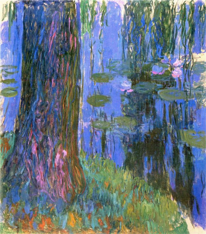 Weeping Willow and Water Lily Pond by Claude Monet