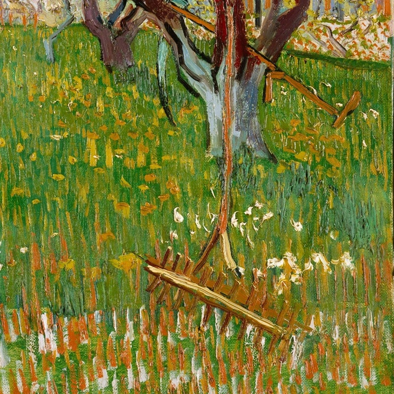 Orchard in Bloom (detail) by Vincent van Gogh