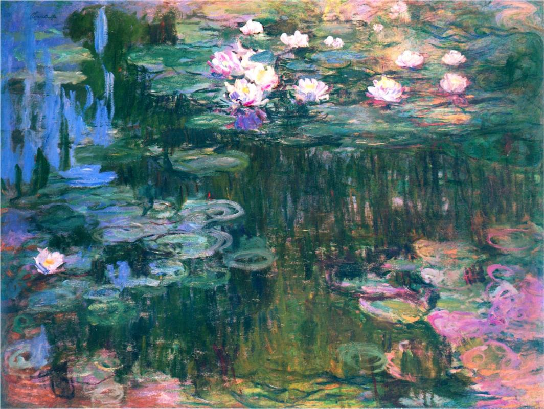 Water Lilies, 1917 by Claude Monet | Lone Quixote |