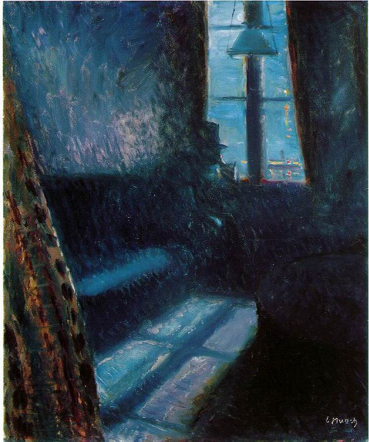 Night in St. Cloud by Edvard Munch