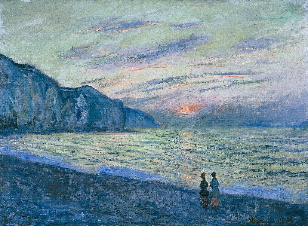 Sunset at Pourville by Claude Monet