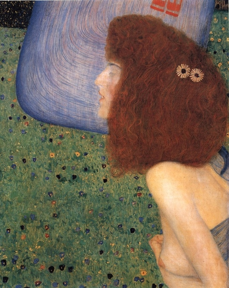 Girl With Blue Veil by Gustav Klimt | Lone Quixote