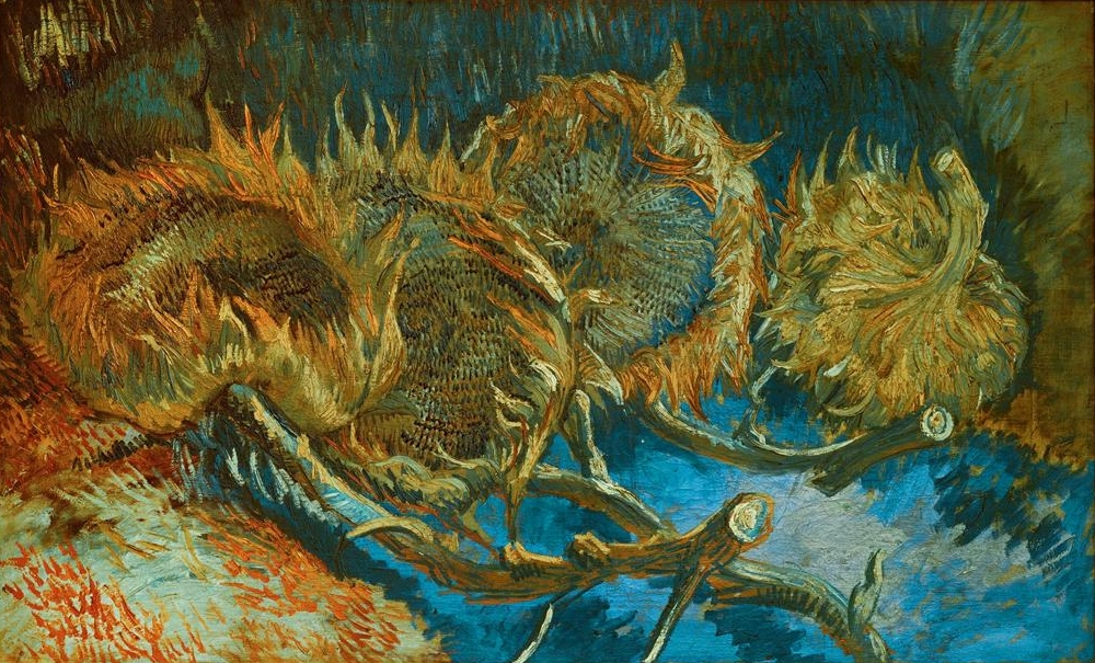 Four Cut Sunflowers by Vincent van Gogh | Lone Quixote