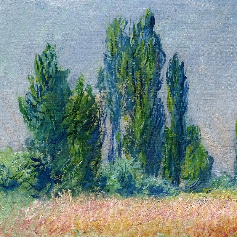 The Wheat Field (detail) by Claude Monet