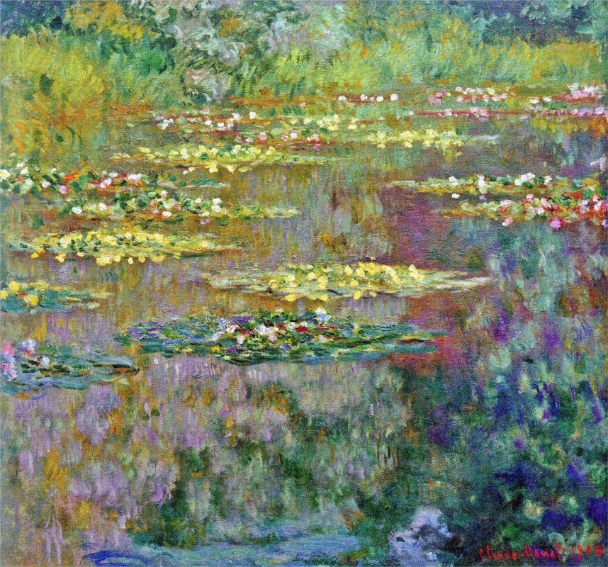 Water Lilies, 1904 by Claude Monet | Lone Quixote