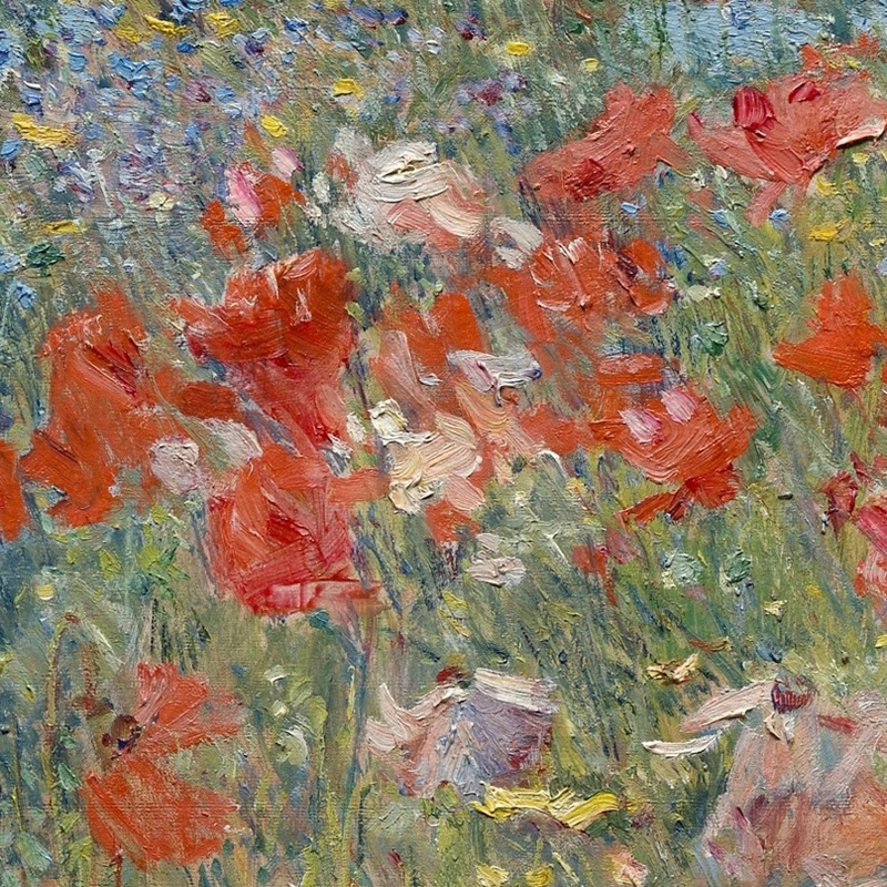 Celia Thaxter's Garden, Isles of Shoals, Maine (detail) by Childe Hassam