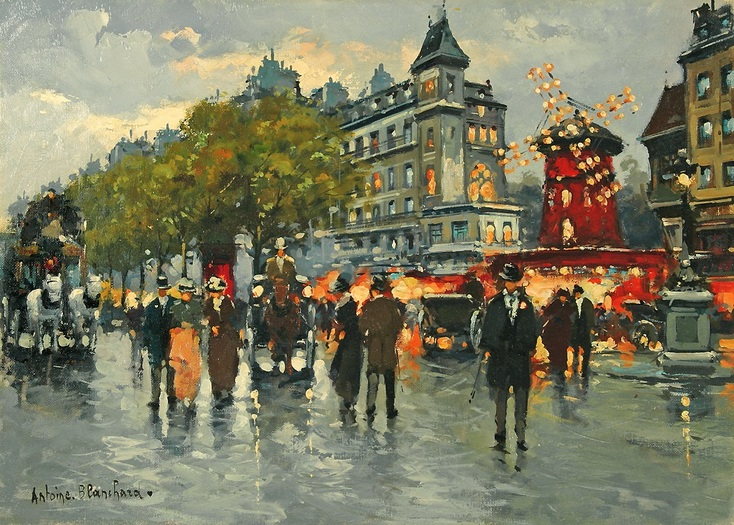 Le Moulin Rouge by Antoine Blanchard | Lone Quixote