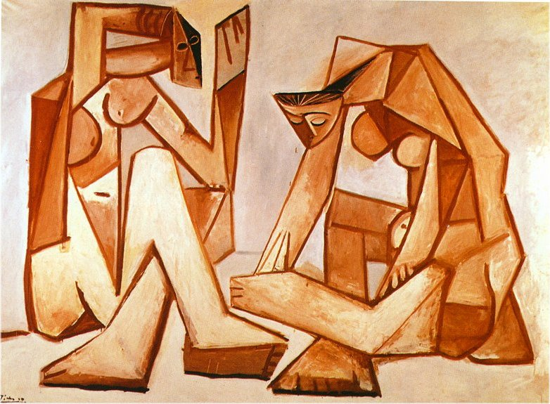 Two Women on the Beach by Pablo Picasso