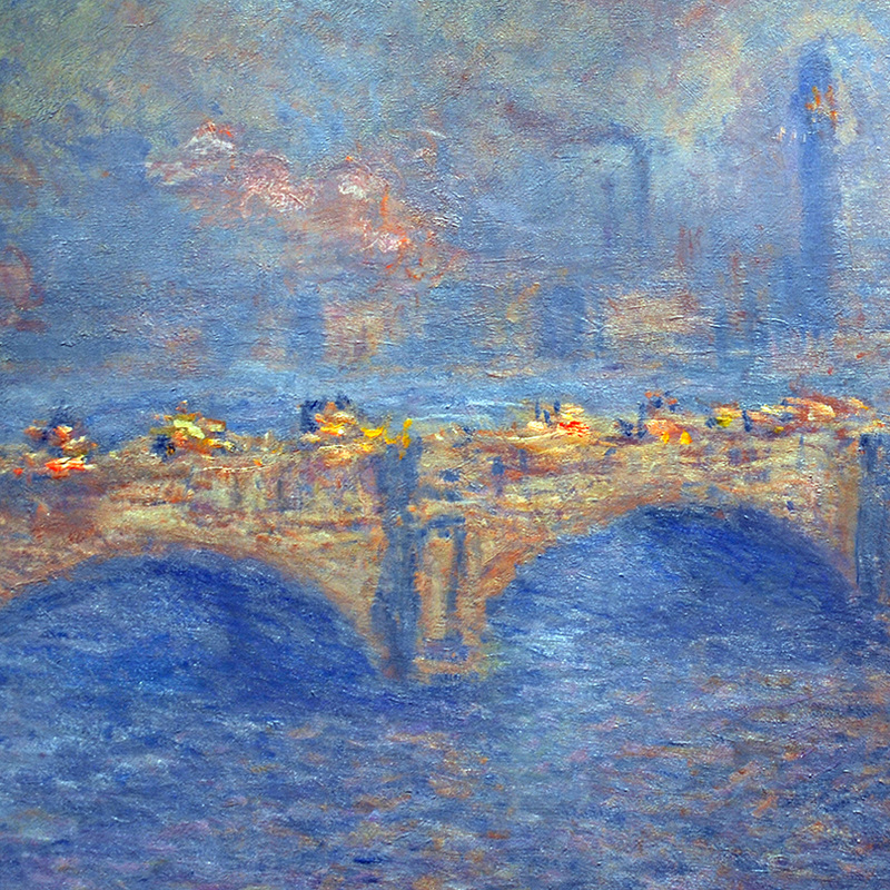 Waterloo Bridge, Sunlight Effect (detail) by Claude Monet
