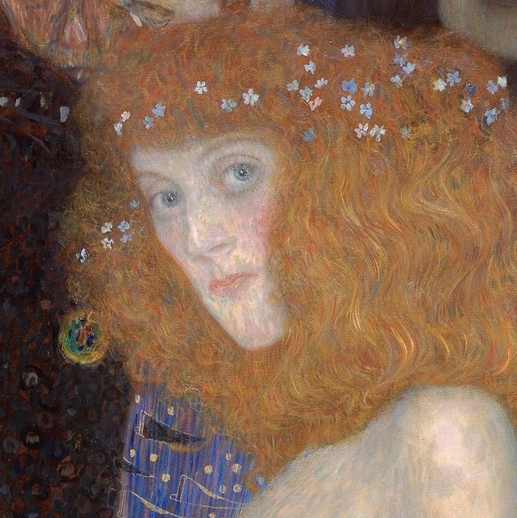 Hope I (detail) by Gustav Klimt