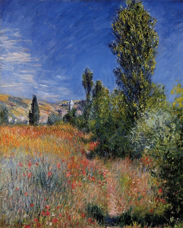 Landscape on the Ile Saint-Martin  by Claude Monet | Lone Quixote