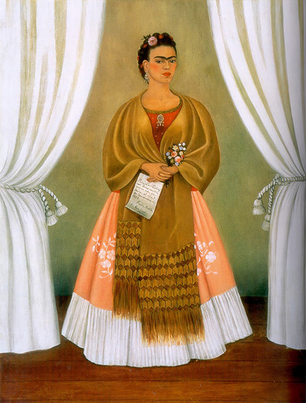 Self Portrait Dedicated to Leon Trotsky (Between the Curtains) by Frida Kahlo | Lone Quixote